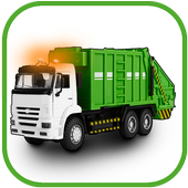 Garbage truck icon
