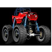 Monster truck games for kids icon