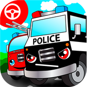 Police car games for kids free icon