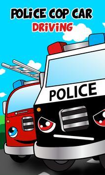 Police car games for kids free poster