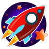 Rocket games for kids free 图标