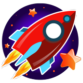 Rocket games for kids free icon