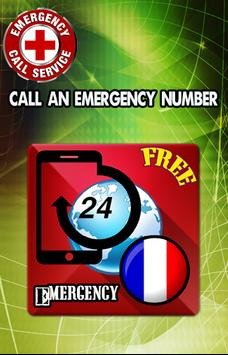 France Emergency numbers poster