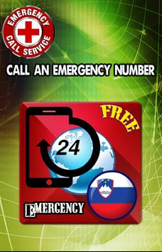 Slovenia Emergency Number poster