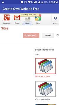 Create Your Own Website Free screenshot 1