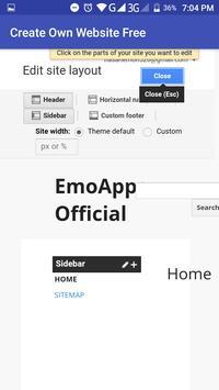 Create Your Own Website Free screenshot 2