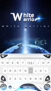 White Warrior Keyboard Theme poster