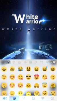 White Warrior Keyboard Theme apk screenshot