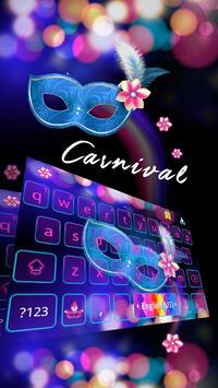 Carnival Emoji Keyboard Theme poster
