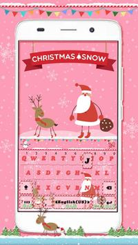 Christmas Snow Emoji Keyboard poster