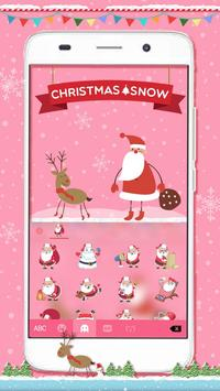 Christmas Snow Emoji Keyboard screenshot 3