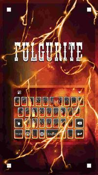 Fulgurite Emoji iKeyboardTheme poster