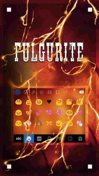 Fulgurite Emoji iKeyboardTheme screenshot 1
