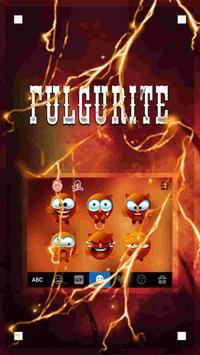 Fulgurite Emoji iKeyboardTheme screenshot 2