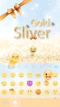 Gold & Sliver Emoji Keyboard screenshot 2