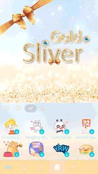 Gold & Sliver Emoji Keyboard screenshot 4