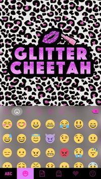 Glitter Cheetah Emoji Keyboard screenshot 1