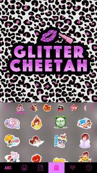 Glitter Cheetah Emoji Keyboard screenshot 2