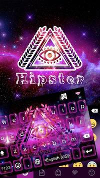 Hipster Emoji Keyboard Theme poster