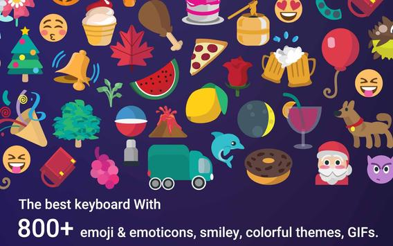 Hipster Emoji Keyboard Theme screenshot 4