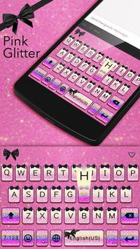 Pink Glitter Theme Keyboard poster