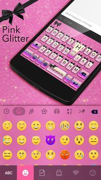 Pink Glitter Theme Keyboard apk screenshot