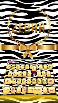 Zebra Theme for iKeyboard poster