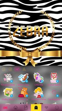 Zebra Theme for iKeyboard apk screenshot