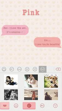 Pink Theme for iKeyboard emoji poster