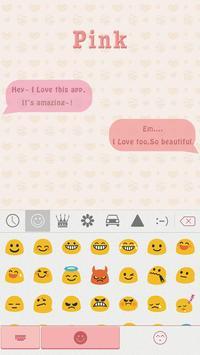 Pink Theme for iKeyboard emoji screenshot 1