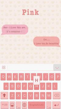 Pink Theme for iKeyboard emoji screenshot 2
