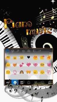 Piano iKeyboard Emoji Theme screenshot 1