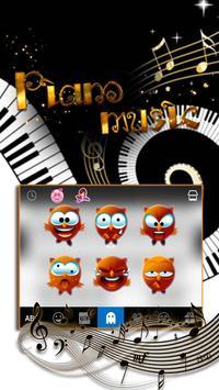 Piano iKeyboard Emoji Theme screenshot 2