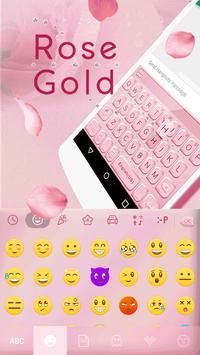 Rose Gold Emoji Keyboard Theme apk screenshot