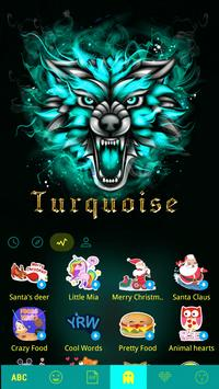 Turquoise Emoji KeyboardColors apk screenshot