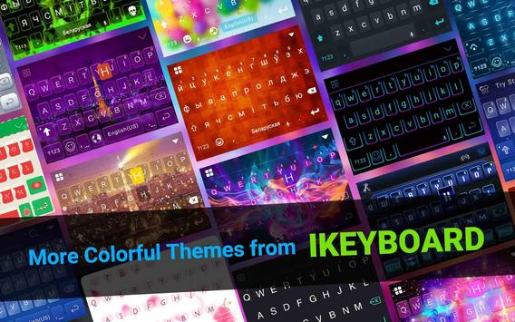 Blue Winter iKeyboard Theme apk screenshot