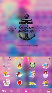 Anchor Galaxy Emoji Keyboard screenshot 3