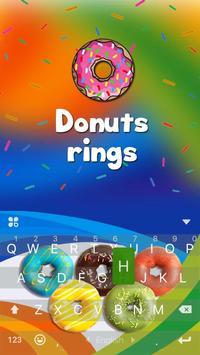 DonutsRings iKeyboard Theme poster