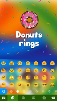 DonutsRings iKeyboard Theme apk screenshot