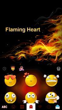 Flaming Heart Emoji Keyboard screenshot 3