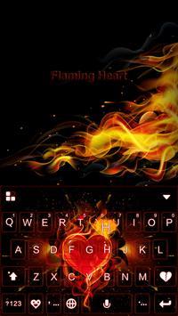 Flaming Heart Emoji Keyboard poster