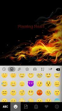 Flaming Heart Emoji Keyboard screenshot 1