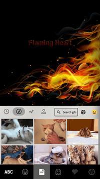 Flaming Heart Emoji Keyboard screenshot 2