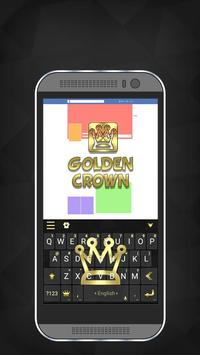 Golden Crown iKeyboard Theme poster
