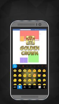 Golden Crown iKeyboard Theme screenshot 1