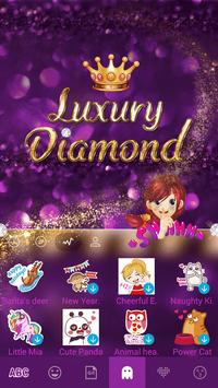 Luxury Diamond Emoji Keyboard screenshot 4