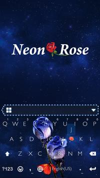 Neon Rose Theme for iKeyboard poster