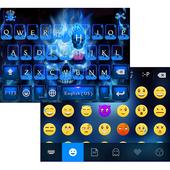 NeonBlueSkull iKeyboard Theme icon