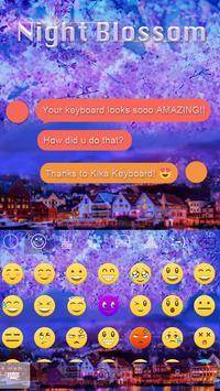 Night Blossom Emoji iKeyboard apk screenshot