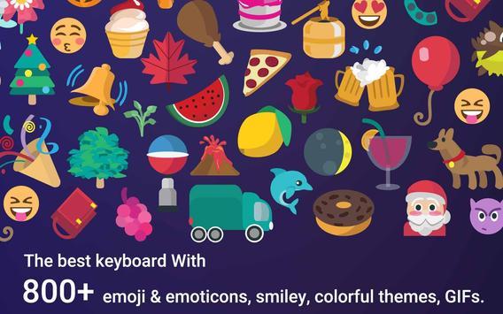 Space iKeyboard Emoji Theme screenshot 3